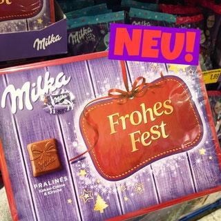 Milka Pralines Frohes Fest Kakao-Creme & Kirsche
