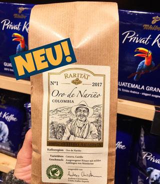 Tchibo Kaffee Rarität Oro de Narino Arabica