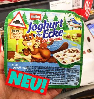 Joghurt mit der Ecke Bibers Knusper Spass