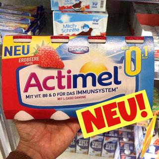 Actimel 0,1% Fett Erdbeere
