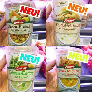 Erasco Einföpfe und Suppen aus dem Kühlregal