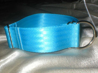 Zugstopp, Halsband, 4cm, Gurtband eisblau
