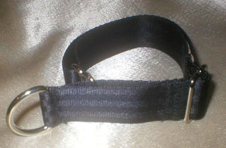 Zugstopp, Halsband, 2,5cm, Gurtband schwarz