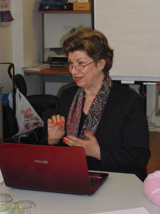 Die Leiterin des Workshops: Serpil Maglicoglu