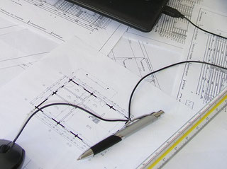 Blockhäuser mit Planung