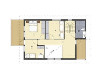 Wohnblockhaus Obergeschoss