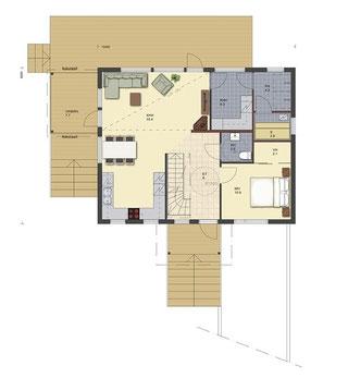 Blockhaus planen - Holzhaus - Einfamilienhaus - Entwurfsplanung - Architektenhäuser - Blockhäuser - Blockbohlenhäuser - schlüsselfertig - Bausatz