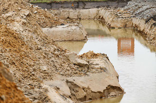 Grundstück - Baustelle - Bodengutachten, Baugrundgutachten, Geotechnischer Bericht -  Grundbuch -  Grundriss -  Grundstück