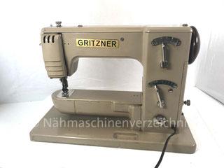 Gritzner FZ, ZZ-Freiarm-Haushaltsnähmaschine mit Einbaumotor, Hersteller: Gritzner-Kayser AG, Karlsruhe-Durlach (Bilder: Nähmaschinenverzeichnis)