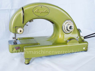 Angela ?, Freiarm-Zickzack-Nähmaschine, gebaut ab ca. 1958, Hersteller: Maschinenfabrik Angeln GmbH, Kappeln (Bilder: Gérard Persod)