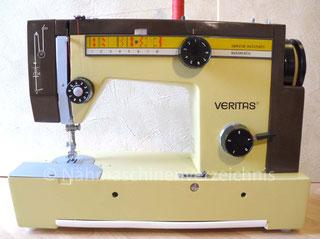 Veritas, 8014/4140, Spezial-Nutznaht-Automatic (16 Programme), Flachbett-Koffer-Nähmaschine mit  Einbaumotor, Hersteller:  VEB Nähmaschinenwerk Wittenberge (Bilder: I. Naumann)