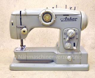 Anker Automatic FFZ-A BR, Freiarm-Haushlatsnähmaschine mit Einbaumotor, Hersteller: Anker-Werke AG Bielefeld (Bilder: G. J. Hanebeck)