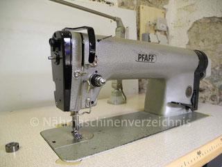 Pfaff 463, Industrie-Flachbett-Nähmaschine, Geradestich-Schnellnäher mit Unterbau-Variostop-Motor, Hersteller Pfaff AG Karlsruhe-Durlach (BIlder: Nähmaschinenverzeichnis)