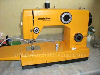 Meiuster Automatik 76, Freiarm-Haushaltsnähmaschine mit Einbaumotor, CB-Greifer, Hersteller: Meister-Werke GmbH, Schweinfurt (Bilder: U. Dankenbrink)