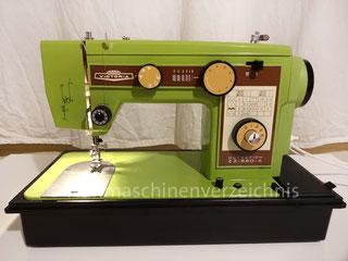 Neckermann Victoria ZZ-580-A, Nutzstich-Flachbett-Haushaltsnähmaschine mit Einnbaumotor, vermutlich japanischer Hersteller (Bilder: C. Mieschel)