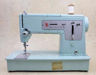 Singer Kl. 338, Automatik-Flachbettnähmaschine mit Schablonen und Unterbaumotor, Hersteller: Singer Nähmaschinen AG, Großbritannien, gebaut 1964 (Bilder: Nähmaschinenverzeichnis)