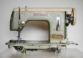 Gritzner GG, Flachbett Geradestich-Nähmschine, Anbaumotor, Hersteller: Gritzner-Kayser AG Karlsruhe-Durlach (Bilder: H. Beese)