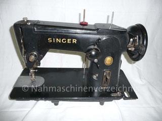 Singer Kl. 306 M, Flachbett-Zickzack-Nähmaschine, Fußantrieb, Motoranbau möglich, Hersteller: Singer Nähmaschinen Aktiengesellschaft (Bilder: I. Weinert)