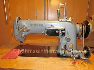 Singer 307 G2, Zickzack-Flachbett-Gewerbenähmaschine, mit Unterbaumotor, Baujahr ca. 1954, Serien-Nr.: PA362287 , Hersteller: Singer Nähmaschinen Aktiengesellschaft, Karlsruhe,  Deutschland (Bilder: M. Bleich)