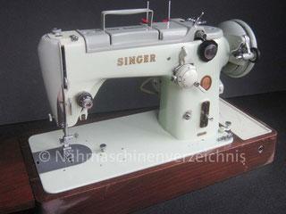 Singer 319K, Haushaltsnähmaschine, Flachbett mit Anbaumotor, Hersteller: Singer Nähmaschinen Aktiengesellschaft (Bilder: W. Bruß)
