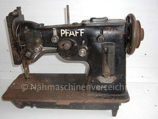 Pfaff 114 ZZ-Gewerbenähmaschine, Flachbett, Hersteller: G. M. Pfaff AG, Kaiserslautern  (Bilder K. Schmid)