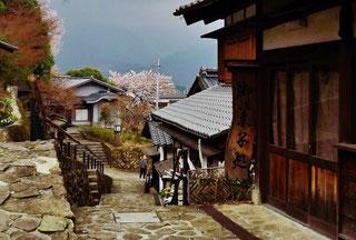 Japanese restaurant Washoku Kaiseki Gifu nakatsugawa Magome Tsumago Naegi castle ruins