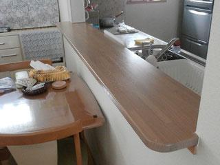 キッチンカウンター自作 木材加工