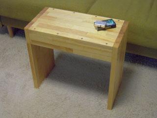 メルクシパイン集成材 自作 サイドテーブル