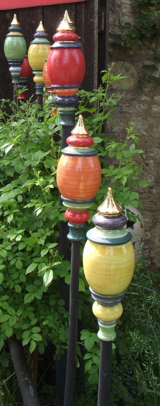 Bild: Gartenkugeln aus Keramik
