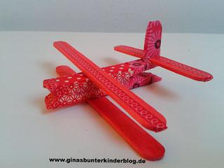 Flugzeug aus eis st bchen ginasbunterkinderblogs webseite - Flugzeug basteln mit kindern ...