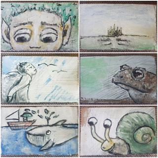 Für den Kunstautomaten male ich kleine Miniaturen