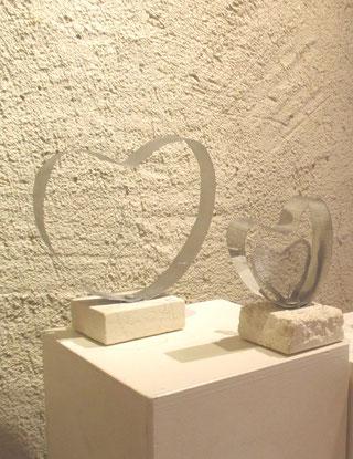 sculpture en inox