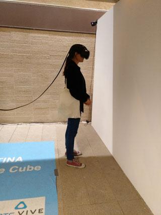 Contemplando arte en Realidad Virtual
