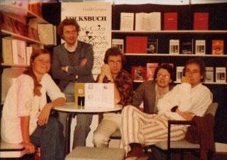 Frankfurter Buchmesse 1978, Stand Rhombus-Verlag, Dr. Heidi Dumreicher,J.S.,Martin Neumann, Franz-Josef Czernin, Vintila Ivanceanu