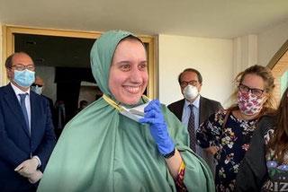Silvia Romano al rientro in Italia