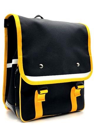 ランリックⅡ 黒色×黄色 前面