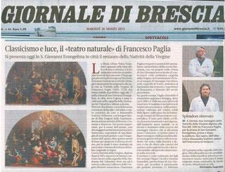 Giovanna Capretti, Giornale di Brescia