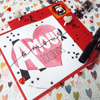 paper break mail art kit partenariat le carre d'encre philaposte timbre coeur chanel art postal
