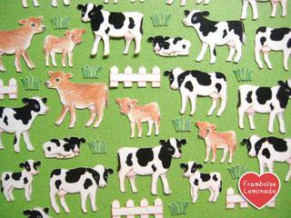 124牧場の牛★フレークシール