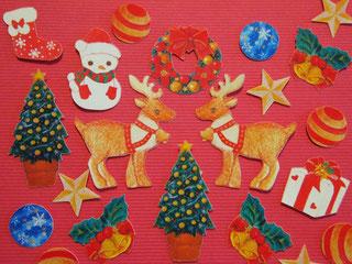 122☆クリスマス☆.。.:*・★フレークシール