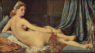 ドミニク・アングル《横たわるオダリスク》