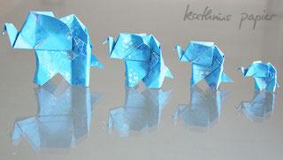 Elefanten aus Kathrins Papier