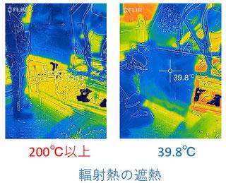 遮熱材FXJで350℃の輻射熱対策