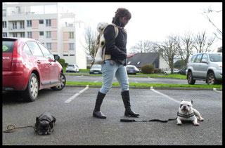 Julie et son chien Georgio