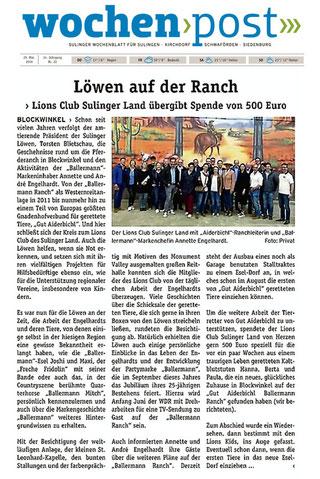 Annette und Andre Engelhardt empfangen den 'Lions Club Sulinger Land' auf der Ballermann Ranch von Gut Aiderbichl