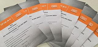 OBO-Zertifikate von der Schulung bei der E Service Stefan Kübler GmbH - Ihr Elektriker aus Wernau