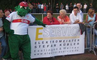 Sponsor beim Fussballspiel: E Service Stefan Kübler GmbH - Ihr Elektriker aus Wernau