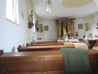 Blick in die Thanhausener Kapelle