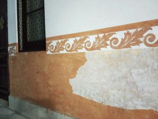 Pintors Barcelona. Restaurar estuco al fuego en vestibulo Eixample