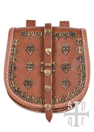 Tarsoly-Tasche,  Wikingertasche aus Leder, Mittelalter, Tasche, Wikinger, Leder